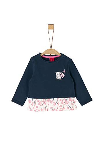 s.Oliver Junior 405.10.002.14.140.2021123 Sweatshirt, Baby - Mädchen, Blau 92 EU