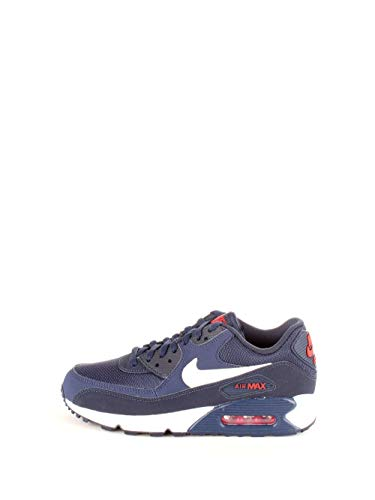 Nike Herren Air Max 90 Essential Gymnastikschuhe, Mehrfarbig (Midnight Navy/White/University Red 403), 42 EU