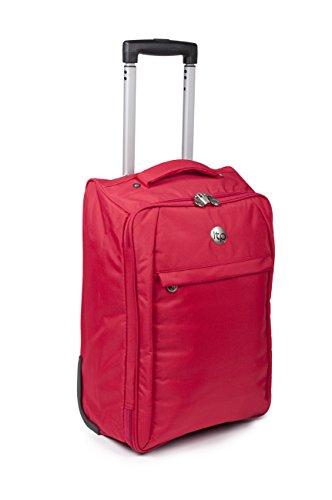 Trolley de viaje. Rojo. 2 Ruedas