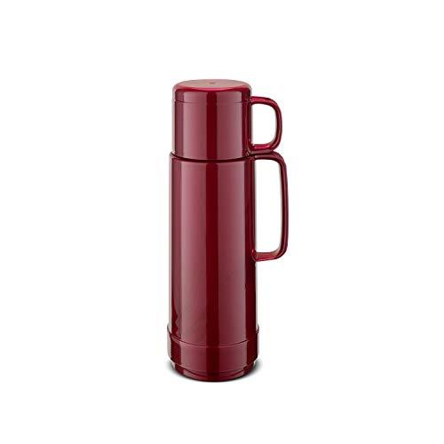 ROTPUNKT Isolierflasche 80 ANDREAS 0,75 l | Zweifunktions-Drehverschluss | BPA Frei - gesundes Trinken | Made in Germany | Warm + Kalthaltung | Glaseinsatz | shiny burgund