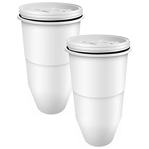 Waterdrop Pitcher Water Filters, Compatible with ZeroWater Pitcher Water Filter ZR 017 and ZeroWater Dispenser Water Filter, Pack of 2