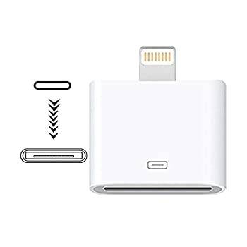 [MFi Certified] Lightning to 30-Pin Adapter,iPhone 8-Pin Male to 30-Pin Female Charging Sync Converter Connector Compatible Apple iPhone 12 11 X 8 7 6P 5S 4S 4 3 3G/iPad/iPod White Sharllen  No Audio