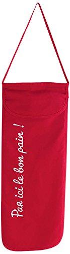 DOUCEUR D'INTERIEUR Ligne Décor Cuistot Sac a Pain 28 x 70 cm Coton Cuistot Coton, Rouge, 70x28 cm