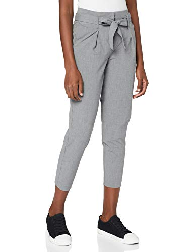 ONLY NOS Damen Hose onlNICOLE Paperbag Ankel Pants WVN NOOS, Grau (Light Grey Melange), 38/L32