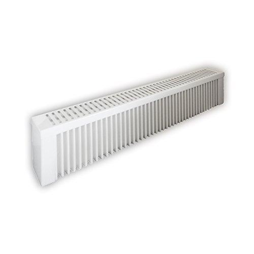 Elektroheizung - Radiator - 1500 Watt - im Set - inkl. Wandmontageset und 1,8m Anschlusskabel- Ohne Thermostat - mit Schamottespeicherkern - Maße: (LxHxT) 990x230x130 - Lagerware