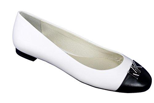 Michael Michael Kors Women's Hayley Ballet Flat Black/White 10 M US