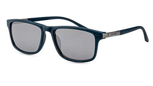 GIN TONIC Herren Sonnenbrille/Sportliche Sonnenbrille in angesagter Holzoptik/Sillber verspiegelt F2507860