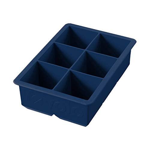 Tovolo Large King Craft Ice Mold Freezer Tray of 2' Cubes for Whiskey...