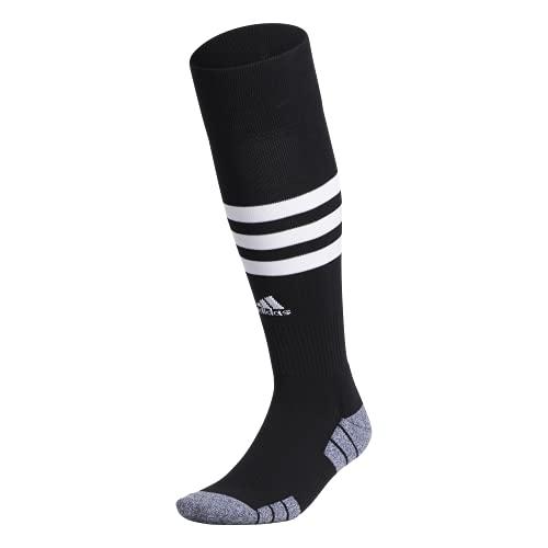 adidas 3-Stripe Hoop Soccer Socks (1-Pair),Black/ White,S