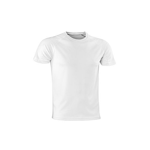 Spiro Adults Unisex Impact Aircool Tee (2XL) (White)