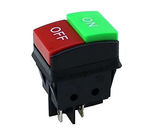 KADIWOAD JD03-C1 Interruptor de Forma de Barco JD03-C1 KCD2 4 Alfiler ON/Off 14A / 16A 125 / 250V Interruptor de Enchufe de conmutación inverso Verde Rojo