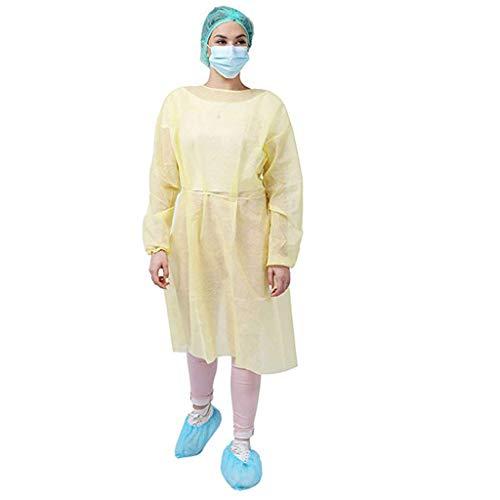 SETSAIL Einweg-Isolationsschutzkleidung wasserdicht Schutzkleidung,Stillkleid, Staubfreie Arbeitskleidung Schutzkleidung Anti-Virus-Schutzkleidung, Anti-Spitting Reinigungsarbeiten Kleidung