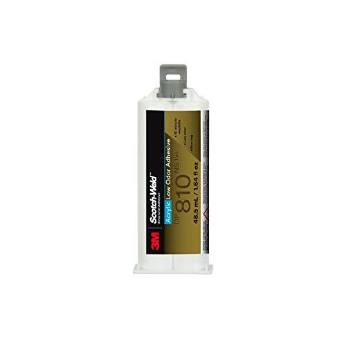 3M Scotch-Weld Low Odor Acrylic Adhesive DP810NS, Tan, 48.5 mL Duo-Pak