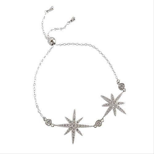 LFWQ Fashion Armband Micro-Set Boor Achthoekige Star Meteor Armband Vrouwelijke Temperament Honderd Gebonden Armband Ketting Decoratie