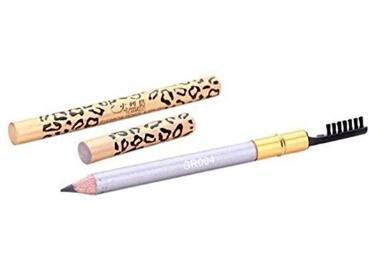 sefon bwomen crayon de sourcils de Léopard Noir avec pinceau à sourcils 1 gris