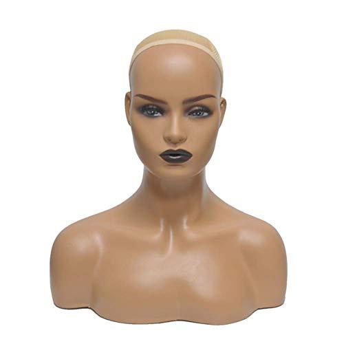 Schaufensterpuppe Kopf Weiblich Perückenkopf Schaufenster Puppen Kopf Ideal Für Präsentation Von Perücken, Schmuck Oder Hütern Im Schaufenster