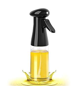 Oil Sprayer for Cooking - 210ml Olive Oil Dispenser Bottle Spray Mister - Food Grade Portable Reusable Oil Vinegar Spritzer Sprayer Bottles for Air Fryer Kitchen Salad Baking BBQ Frying