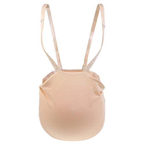 Sharplace Silikon Babybauch Schwangerschaft Künstliche Silikonbauch Schwangere Schwangerschaftsbauch für Karneval Fasching - 1500g