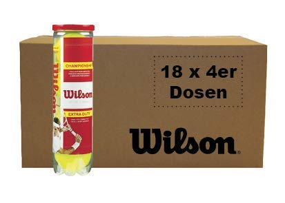Wilson Championship Tennisball Karton 72 Tennisbälle 18x4er Dosen (Bälle, 72)