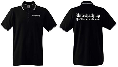 World of Shirt Herren Polo-Retro Shirt Unterhaching Ultras