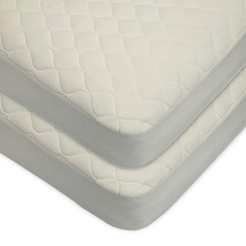 Great Deal! TL Care Waterproof Quilted Crib Size Fitted Mattress Cover Made with Organic Cotton Top ...
