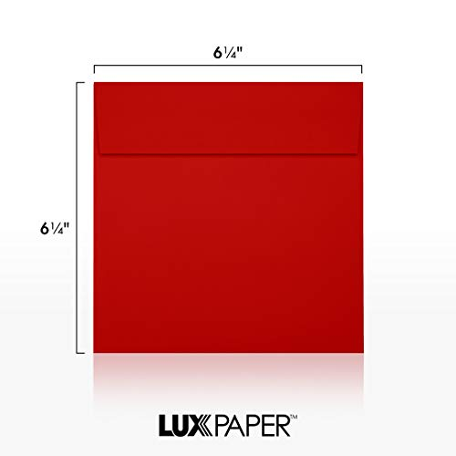6 1/2 x 6 1/2 Square Envelopes - Holiday Red (50 Qty)   Perfect for Invitations, Announcements, Greeting Cards, Photos   8535-15-50 Photo #5