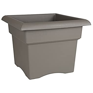Fiskars 14 Inch Veranda 3 Gallon Box Planter, Color Cement (57714 )