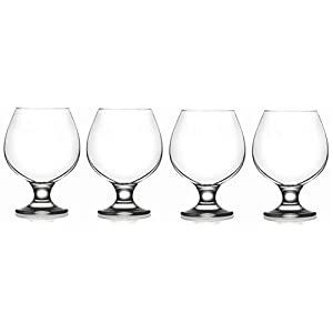 Epure Collection 4 Piece Glass Set – For Drinking Brandy, Bourbon,...