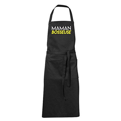 stylx design Tablier humoristique de cuisine noir maman bosseuse