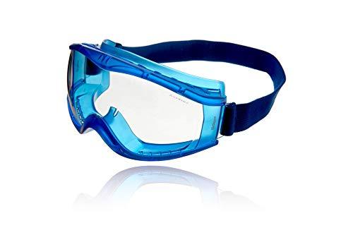 Dräger Schutzbrille X-pect 8520 | Beschlagfreie Vollsichtbrille auch für Brillenträger | Für Baustelle, Labor, Werkstatt | Kratzfeste und bruchfeste Polycarbonatscheibe | 5 St.