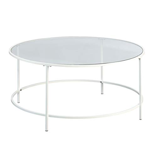 Sauder Anda Norr Round Coffee Table, L: 35.98' x W: 35.98' x H: 16.5',...