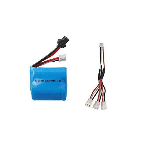 GzxLaY Batteria di Backup ad Alte Prestazioni 7.4V 600mAh 18350 Batteria agli ioni di Litio per Skytech H100 H102 RC Boat Parts 2s 7.4v Batteria per S1 S2 S3 S4 S5-C_1PCS