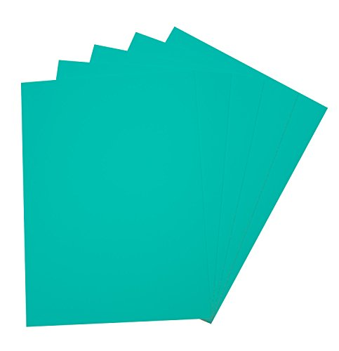 folia 23554 - Moosgummi, 5 Bögen, 2 mm, ca. 29 x 40 cm, smaragdgrün - ideal für vielfältige Bastelarbeiten