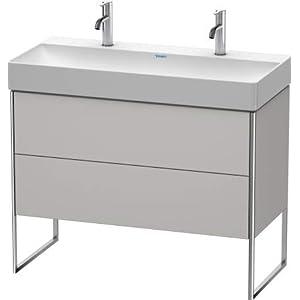 Duravit XSquare Mueble de pie 98,4×46,0 cm, 2 cajones, para Lavabo DuraSquare 235310, Color (Frente/Cuerpo): Albaricoque…