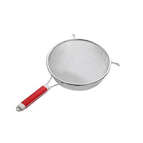 Coladores de malla Colador de malla fina con un colador de cucharón grande de acero inoxidable de 15 pulgadas con mango resistente al calor para la grasa de escote y la cocina de la cocina de la espum