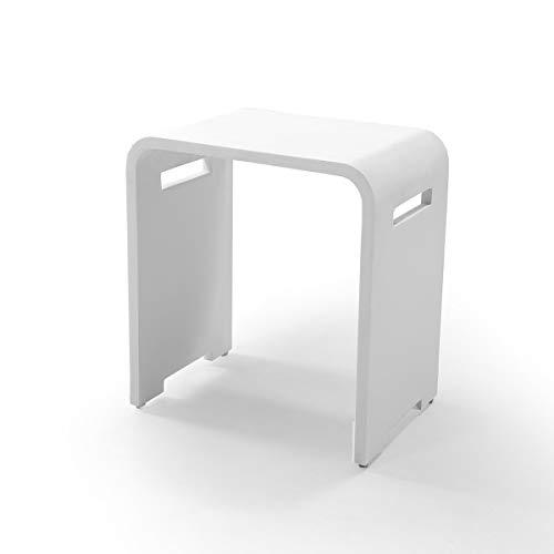 KZOAO Design Kunststein Badhocker/Duschhocker/Sitzhocker aus Mineralguss variabel einsetzbar Modell 8, Oberfläche:Matt