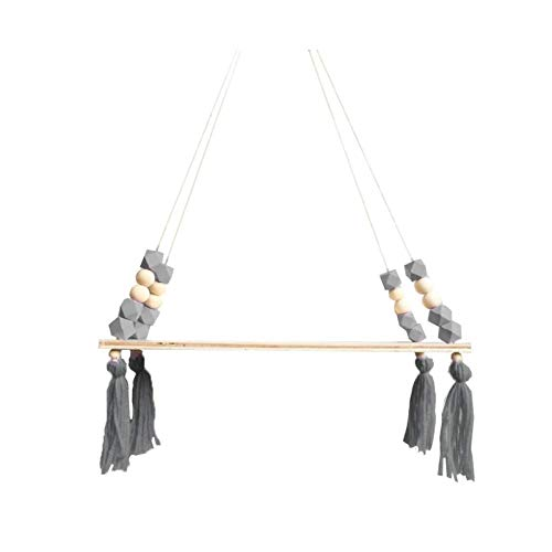 GAKIN Estante de pared para niños con cuerda y tabla de columpio
