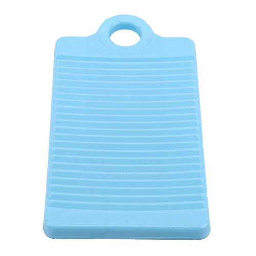Flybloom Tragbares Mini-Waschbrett Kunststoffkleidung Reinigungsbrett Antischlupf-Wäschezubehör (Blau)