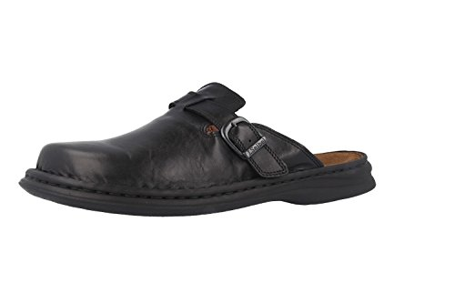 Josef Seibel Herren Pantoletten Madrid,Weite G (Normal),Men,Man,Slipper,Slides,Hauschuhe,Gartenschuhe,Plateau-Sohle,maennlich,schwarz,40 EU / 6.5 UK