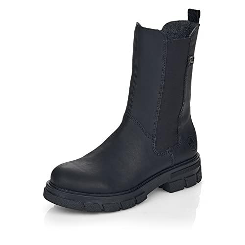 Rieker Damen Klassische Stiefel Z9180, Frauen Stiefel,Winterstiefel,Winterschuhe,uebergangsschuhe,Women's,schwarz (02),40 EU / 6.5 UK