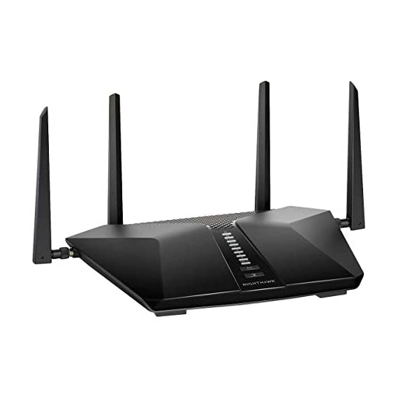 Netgear Nighthawk AX6 6-Stream AX4300 WiFi 6 Router (RAX45-100NAS) 2 Next-generation WiFi 6 (802.11ax) Technology for the Increasing Demand for Wireless Connectivity High-performance WiFi 6 Smart Homes with 20 Devices, 4x Faster Speeds than 11ac Ideal for the Growing Smart Home with Many Connected Devices or Family Members