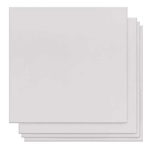 Set Quaderni Fogli Bianchi (Set da 6) Quaderno Appunti Block Notes 120 GSM (12,7x12,7cm) Quaderno Bianco da 18 Fogli (36pag.) Quaderno Pagine Bianche con Copertina Rigida per Viaggi, Scuola e Disegno