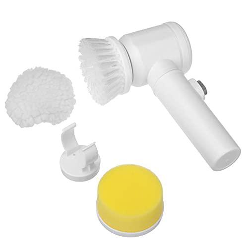 Cepillo de Limpieza Eléctrico con 3 Cabezas de Cepillo Herramienta de Depuración de Mano Kit de Limpieza Automática Sin Cordón para El Baño de Limpieza de Hotel de La Casa