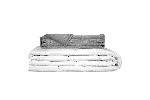 GRAVITY ORIGINAL Therapiedecke Gewichtsdecke - Schwere Decke für Erwachsene/Jugendliche Für besseren Schlaf, Größe: 155x220 cm, 8 kg