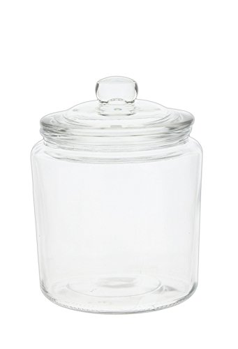 Park Hill Vintage Style Clear Glass Apothecary Jar with Lid (6')