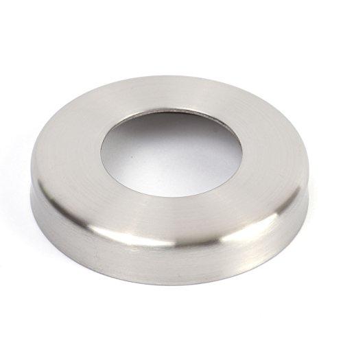 Edelstahl Abdeckrosetten, V2A / 1.4301, Oberfläche geschliffen. Ø 105 mm, Materialstärke 1,3 mm Lochdurchmesser 43 mm, Höhe 18 mm