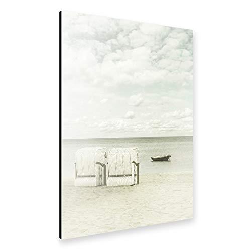 artboxONE Alu-Print 120x80 cm SIERKSDORF Blick auf die Ostsee von Künstler Melanie Viola