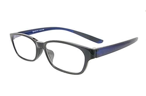 RESA 老眼鏡 メガネ型ルーペ シニアグラス 拡大鏡 ブラック/ダークネイビー 首にかけられる老眼鏡 RESA- (RSN002-1 +1.50(1.5倍))