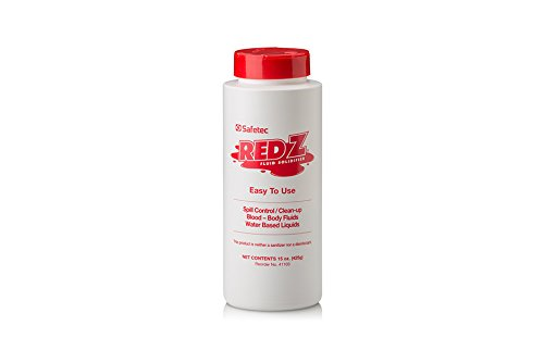 Safetec 41103 Red Z Spill Control Solidifier, 15 oz. Flip-Top Shaker, Plastic Bottle