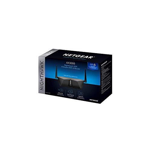 NETGEAR Nighthawk AX3000 4-Stream Dual-Band Wi-Fi 6 Router - RAX35-100NAS